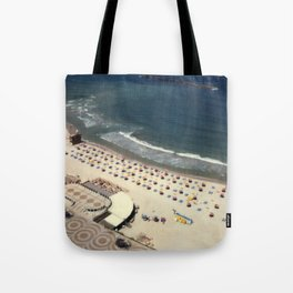 Tel-Aviv beach at summer, high from above, Israel, scaned sx-70 Polaroid Tote Bag