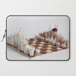 Cookies and Milk Chess Set Laptop Sleeve