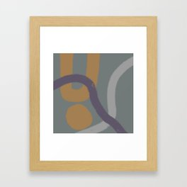 Purple and Orange Abstract Framed Art Print