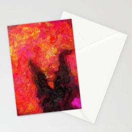 Breath of the Wild Calamity Ganon Blood Moon Legend of Zelda Impressionist Painting Stationery Cards