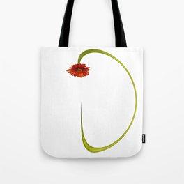 Warped Gerbera Tote Bag
