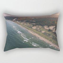 Coastal Sunset - Pink Sky Rectangular Pillow