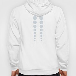 Up and down polka dot pattern in white and a pale icy gray Hoody