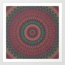 Autumn Star Mandala Art Print