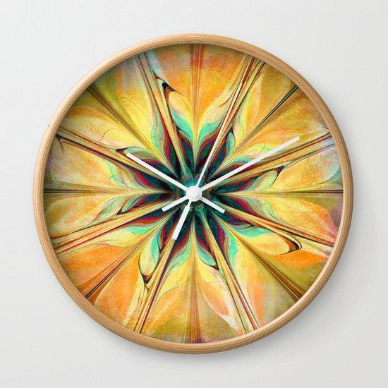 Yellow Flower Wall Clock