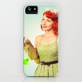 Distractingly Sexy Scientist Pinup iPhone Case