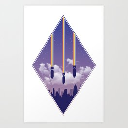 Rainbow Attack Art Print