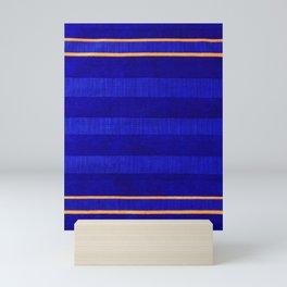 N241 - Navy Deep Calm Blue Velvet Texture Moroccan Style  Mini Art Print