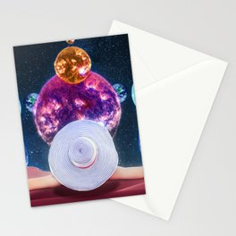 Sunbathing Amongst The Moon And Stars Stationery Cards