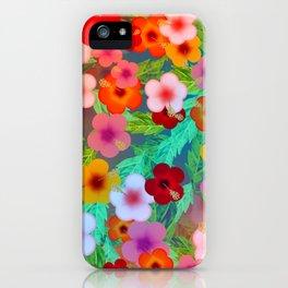 Colorful Hibiscus iPhone Case