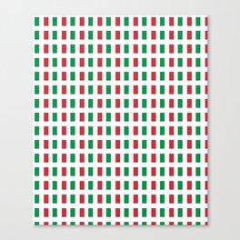 flag of Italia- Italy,Italia,Italian,Latine,Roma,venezia,venice,mediterreanean,Genoa,firenze Canvas Print