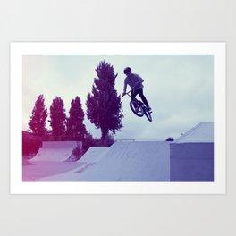 BMX Skatepark Art Print