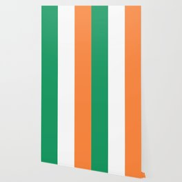 Irish Tricolour Green Orange and White Irish Flag Wallpaper