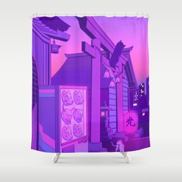 Midnight Matsuri Shower Curtain