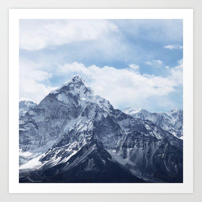Snowy Mountain Peaks Kunstdrucke