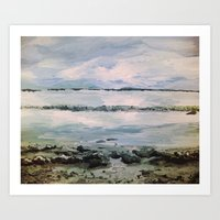 maine Art Prints featuring Maine by Samantha Crepeau