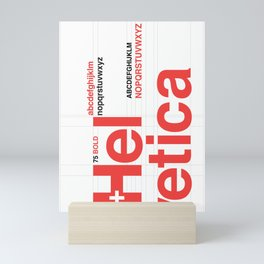 Helvetica Mini Art Print