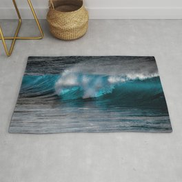 Wave Series Photograph No. 11 - The Most Beautiful Wave Rug