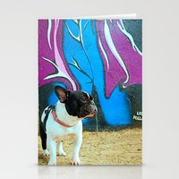 frenchie Stationery Cards featuring Frenchie by HANS-G
