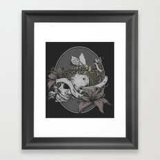 Skull Bee  Framed Art Print