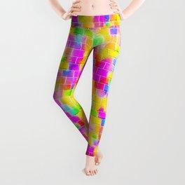 BRICK WALL SMUDGED (Multicolor Light) Leggings