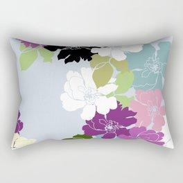 Purple Poppy Toss Rectangular Pillow