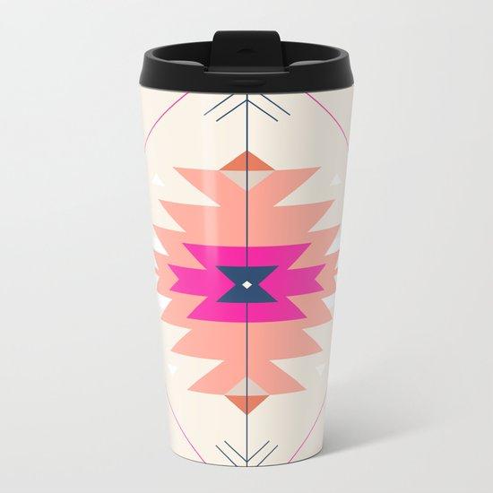 Kilim Inspired Metal Travel Mug