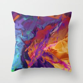 Dragon's Back. Dynamic, Blue, Purple and Orange Abstract. Throw Pillow