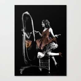 Through The Looking Glass Brown Canvas Print