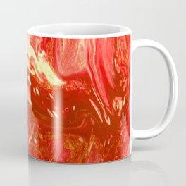 Fluid Nature - Fanning The Flames - Abstract Acrylic Artwork Coffee Mug
