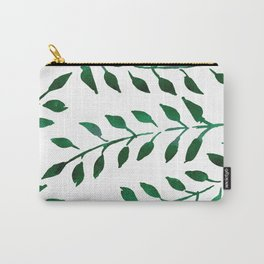 Green Watercolor Fronds Carry-All Pouch