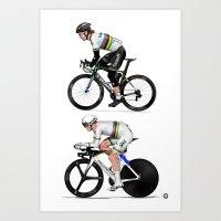 World champs -  Peter Sagan - Vasil Kiryienka Art Print