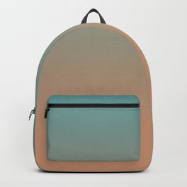 Cadet Blue and Antique Brass Ombre Backpack