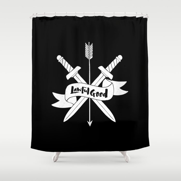 LAWFUL GOOD Shower Curtain by thewellkeptthing | Society6