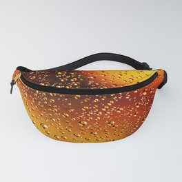 Colorful abstract wallpaper, waterdrops over multicolor background Fanny Pack