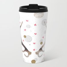 Reindeer horns Metal Travel Mug