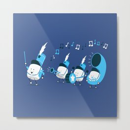 Marchmallow Band Metal Print
