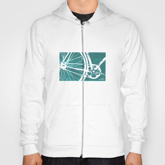Teal Bike Hoody