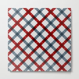 Colorful Geometric Strips Pattern - Kitchen Napkin Style Metal Print