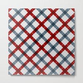 Colorful Geometric Strips Pattern - Kitchen Napkin Style Metal Print