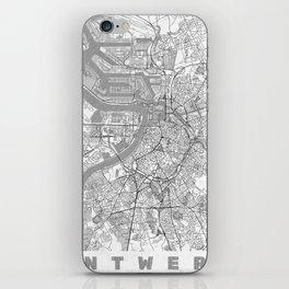 Antwerp Map Line iPhone Skin