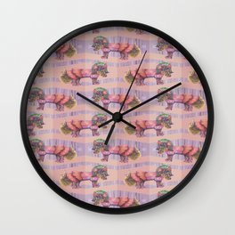 alligator babe Wall Clock