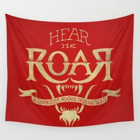 lannister Wall Tapestries featuring Game of Type by Jango Snow