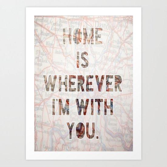 HOME (Ohio) Art Print