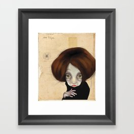 I'll be watching you... Framed Art Print