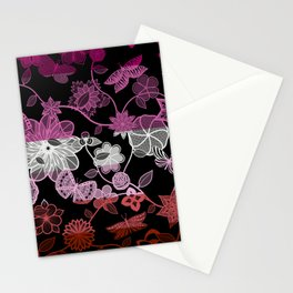 Butterfly Garden, Pride Flag Series - Lesbian Stationery Cards
