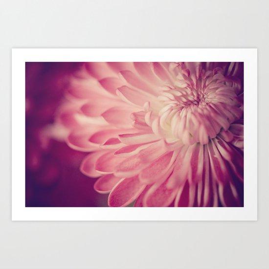 layers of pink Art Print
