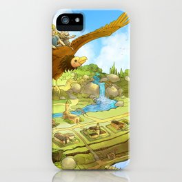 Flying On Polly Over an Enchanted Land iPhone Case