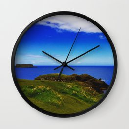 Everything Is Blue And Green Wall Clock