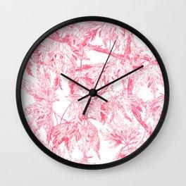 Acer palmatum Wall Clock